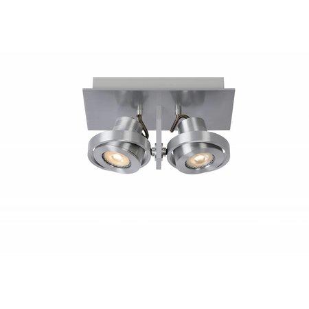 Design plafondspot wit of grijs GU10 LED 2x5W dim-to-warm
