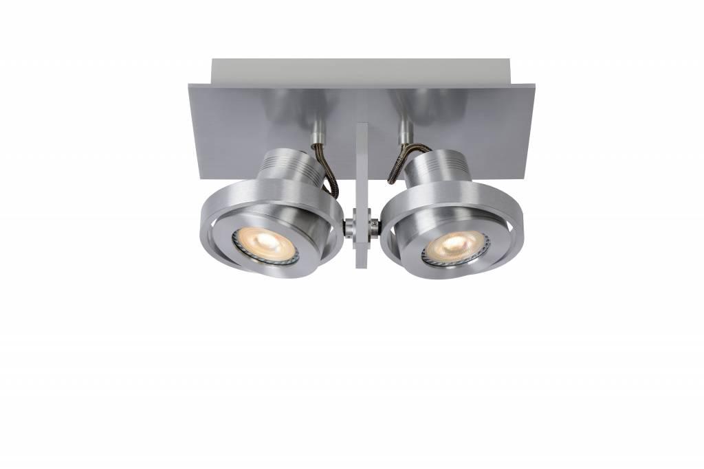 Spot plafond cuisine gris ou blanc gu10 led 2x4 5w myplanetled - Spot plafond cuisine ...
