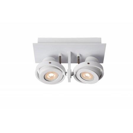 Design plafondspot wit of grijs GU10 LED 2x4,5W