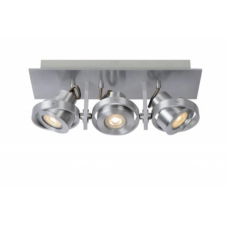 Design plafondspot wit of grijs GU10 LED 3x4,5W