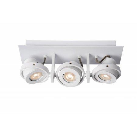 Design plafondspot wit of grijs GU10 LED 3x5W dim to warm