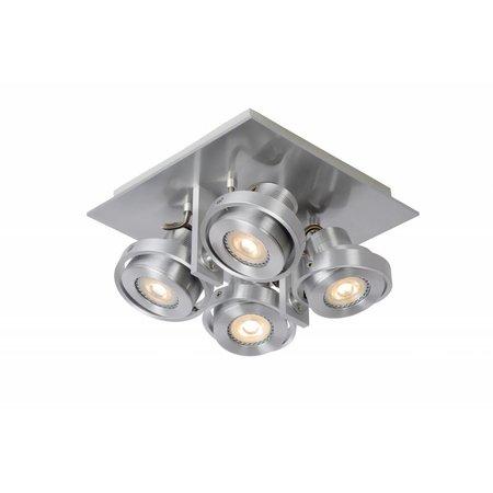 Design plafondspot wit of grijs GU10 LED 4x5 W dim-to warm