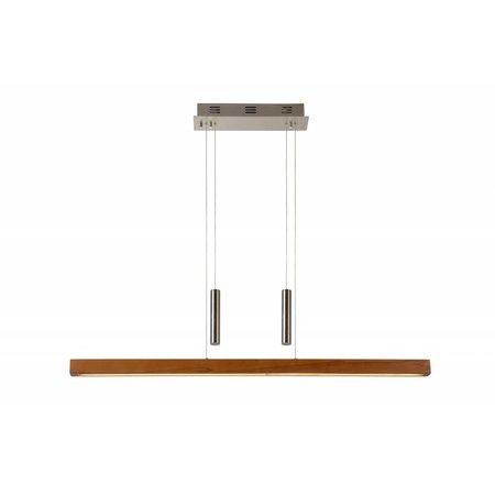 Wood pendant light long dimmable 100cm 30W