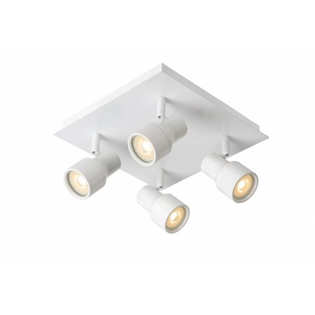Bathroom ceiling light LED white or chrome GU10 4x4,5W