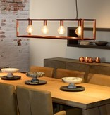 Lustre noir, blanc, cuivre, gris, bois rectangulaire 120cm