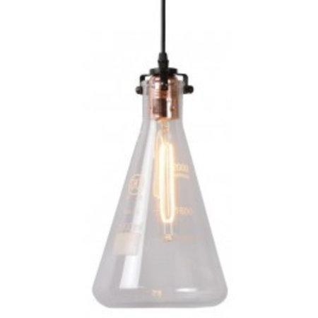Glazen hanglamp transparant maatbeker 28cm hoog