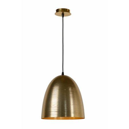 Hanglamp goud of wit koepel 30cm diameter E27