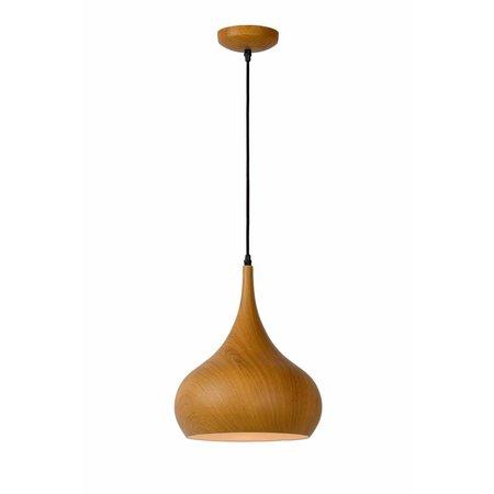 Pendant light design wood colour 30cm diameter E27