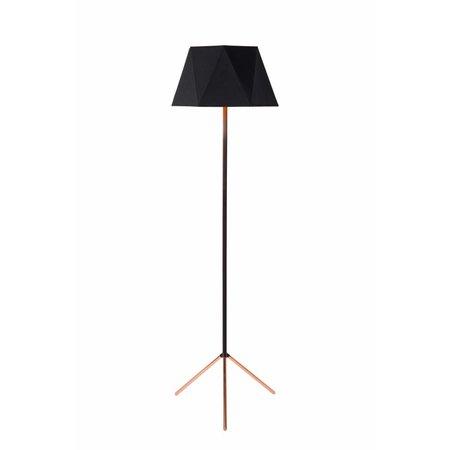 Staande lamp design driepoot zwart 155cm H