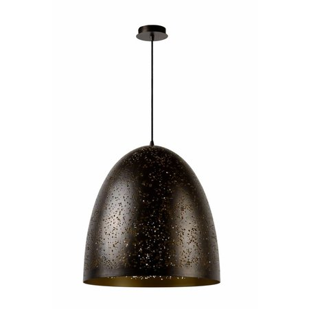 Hanglamp zwart goud koepel 49cm diameter E27