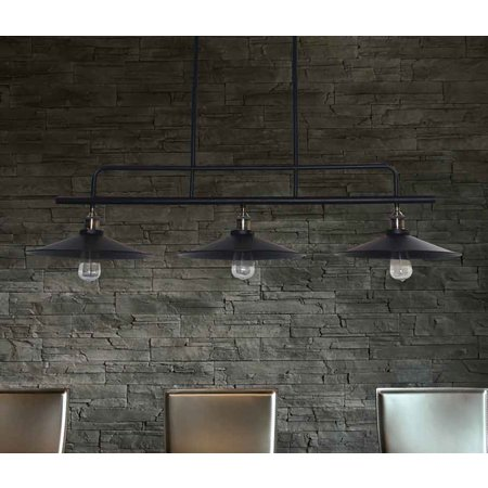 Pendant light vintage black metal 1200mm E27x3