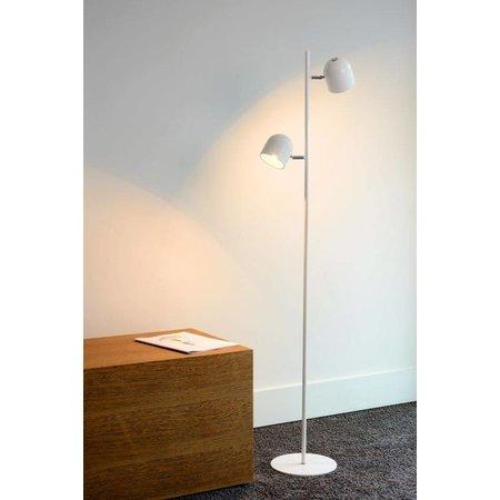 Staande lamp Scandinavisch zwart, wit LED 2x5W 141cm