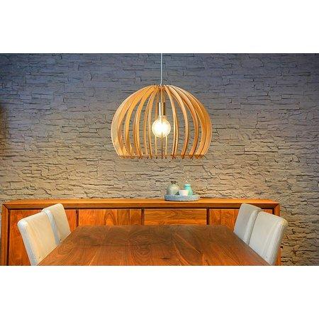 Wooden pendant light wood colour 500mm Ø E27