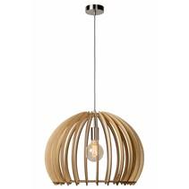 Houten hanglamp houtkleur 500mm Ø E27