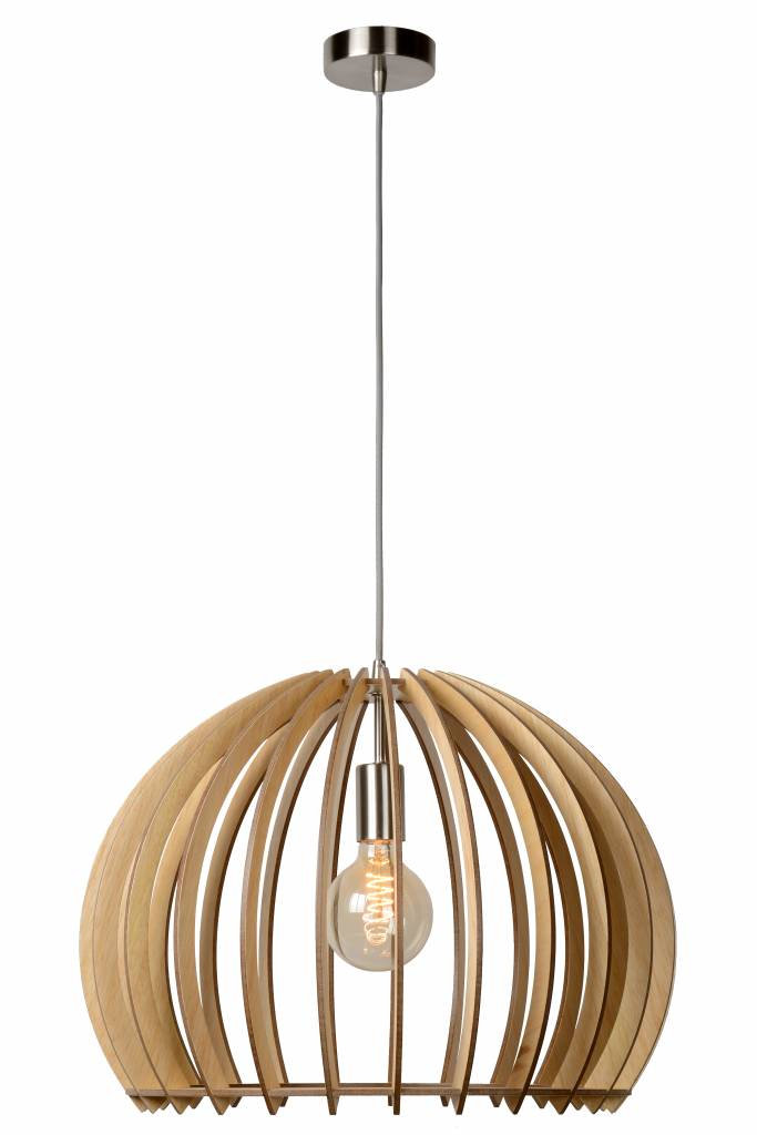 Picture of: Wooden Pendant Light Wood Colour 500mm O E27 Myplanetled