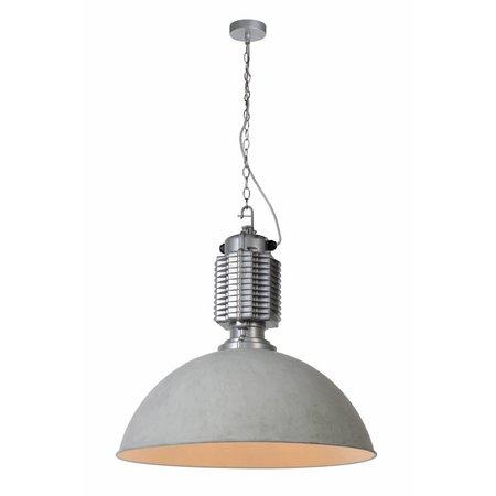 Hanglamp betonlook industrieel 60cm diameter E27