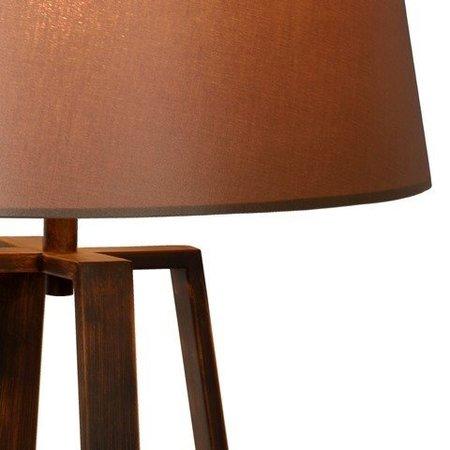 Lampadaire abat-jour rustique tissu E27 165mm