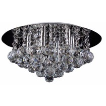 Crystal ceiling light chrome LED G9x6 450mm Ø