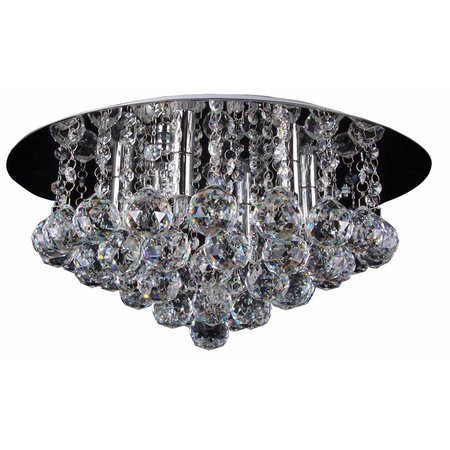 Plafonniere kristal glas chroom LED G9x6 450mm Ø