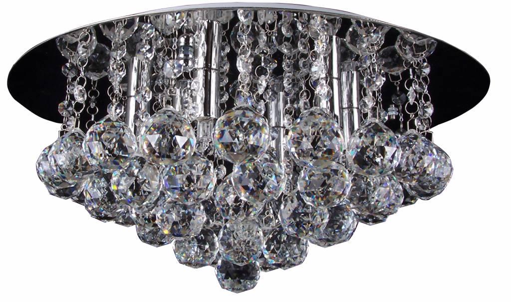 Kristallen Plafonniere : Plafonniere kristal glas chroom led g9x6 450mm Ø myplanetled