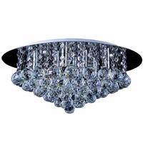 Plafonnier cristal chrome LED G9x8 550mm Ø