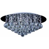 Plafondlamp met kristallen chroom LED G9x8 550mm Ø