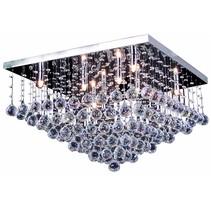 Luminaire cristal chrome LED G9x8 600x600mm