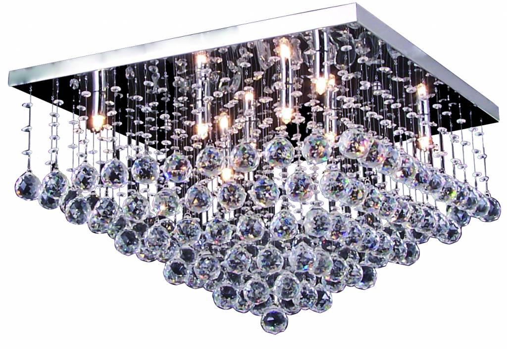 Plafonniere Met Kristallen : Plafonniere kristal chroom led g mm myplanetled