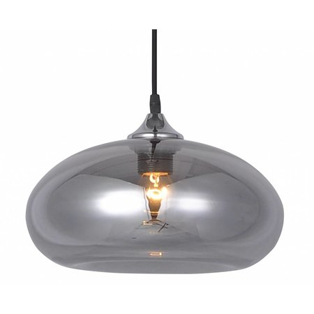 Glass ball pendant light gold or grey 30cm Ø