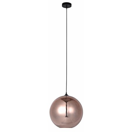 Ball pendant light glass gold or grey 30cm Ø