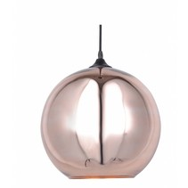 Glazen hanglamp boven eettafel bol 30cm Ø
