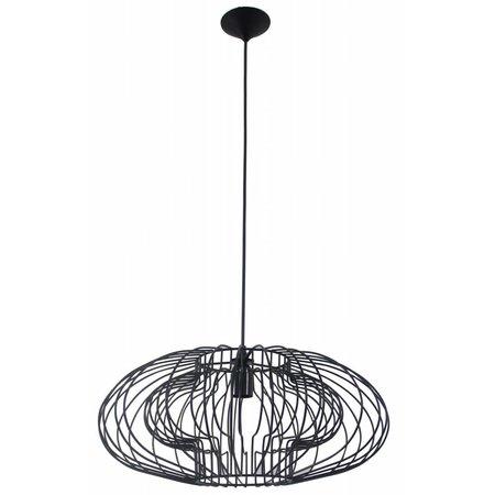 Geometric pendant light black 500mmØ E27