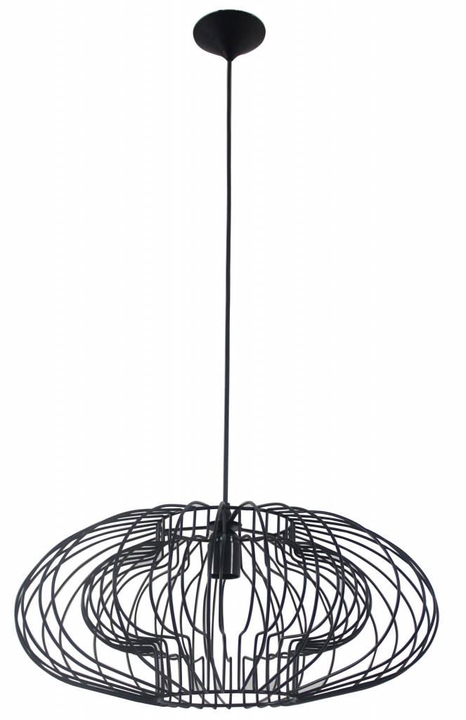 Geometric Pendant Light Black 500mmo E27 Myplanetled