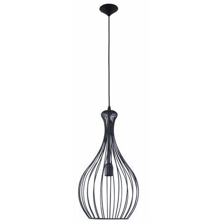 Hanglamp zwart draad 260mm Ø E27