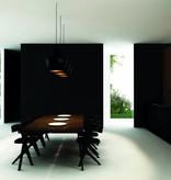 Luminaire suspendu design noir-doré 1xE27 diamètre 250mm