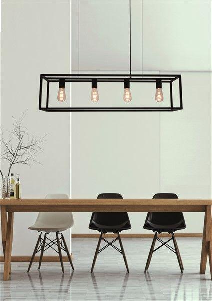 Lamp Boven Eettafel.Landelijke Hanglamp Eettafel Zwart Ruggine Koper 1m