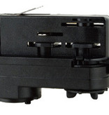 3-phase adaptor for track lighting white or black