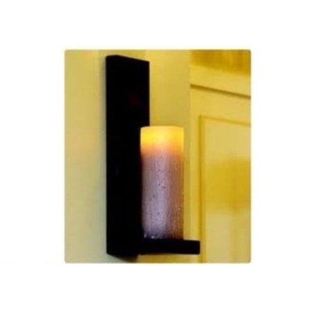Wandlamp landelijke stijl LED brons-chroom-wit 1 kaars