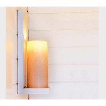 Rustic wall light LED bronze-chrome-white-nickel 1 candle