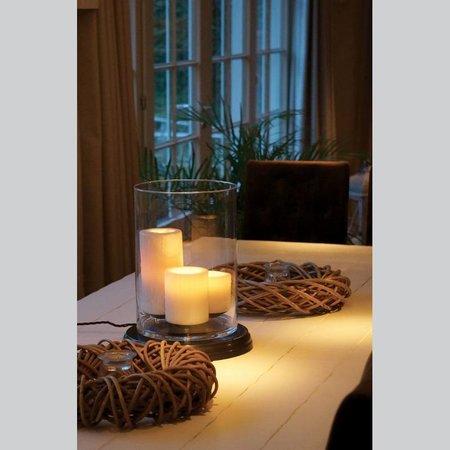 Lampe de table design LED 3 bougies 38cm haut