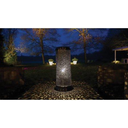 Lampe terrasse rustique laiton bronze, nickel