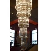 Glazen plafondlamp kroonluchter sierlijk G4x41 82cm Ø