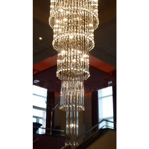 Verrassend Glazen plafondlamp kroonluchter sierlijk G4x41 82cm Ø | Myplanetled DJ-79