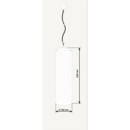 Lustre rustique cylindre ambiance bronze, nickel