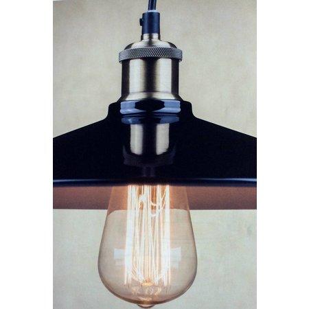Industriële hanglamp zwarte lampenkap 26, 35cm Ø
