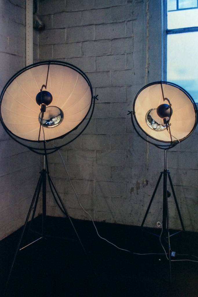 Industrial Floor Lamp Black White 1900mm E27 Myplanetled
