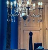 Chandelier pendant light with crystal E14x8 80cm Ø