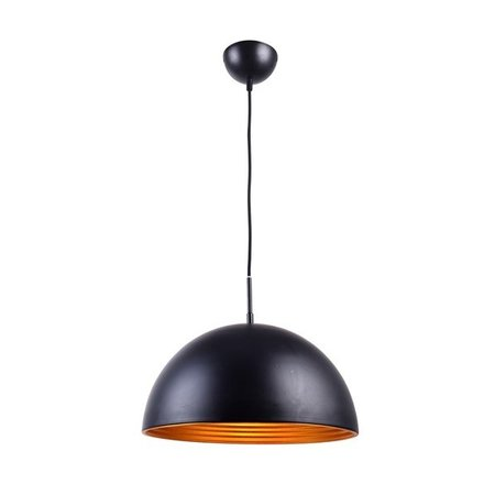 Hanglamp design rond zwart-goud 1xE27 400mm diameter