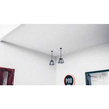 Hanglamp zwart of roest landelijk E27 300mm hoog