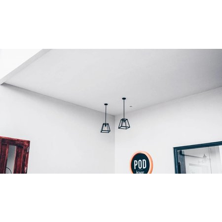 Pendant light black or rust E27 300mm high